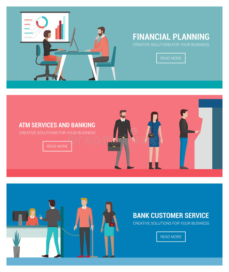 Banques et finances illustration stock