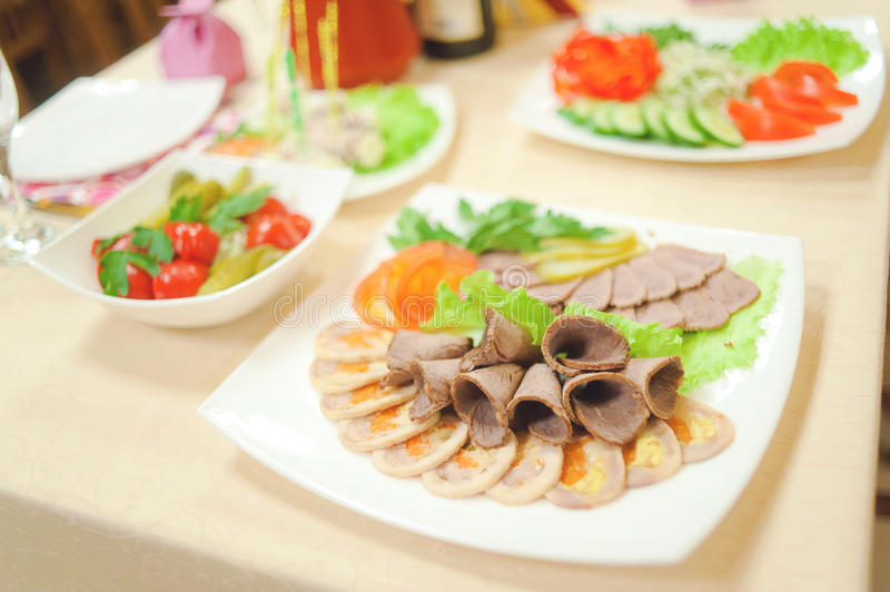 Download Banquet stock photo. Image of salad, ware, holiday, plate - 27634532