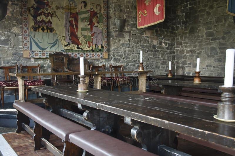 Banquet anglais irlandais médiéval traditionnel de dîner image stock