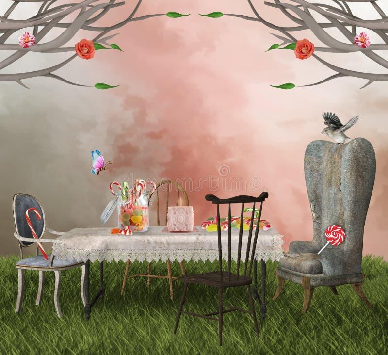 Banquet de sucreries illustration stock