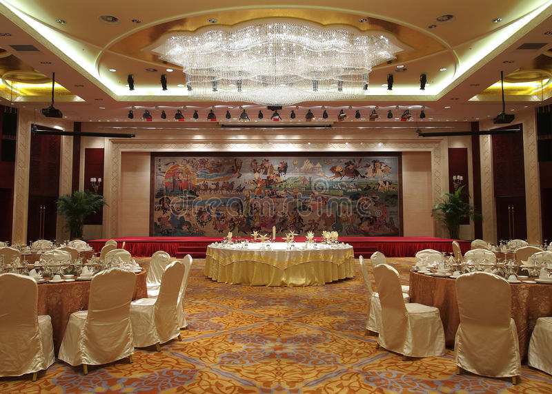 Banquet Hall. In a hotel stock images