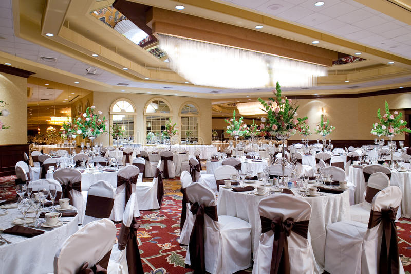 Banquet hall royalty free stock image