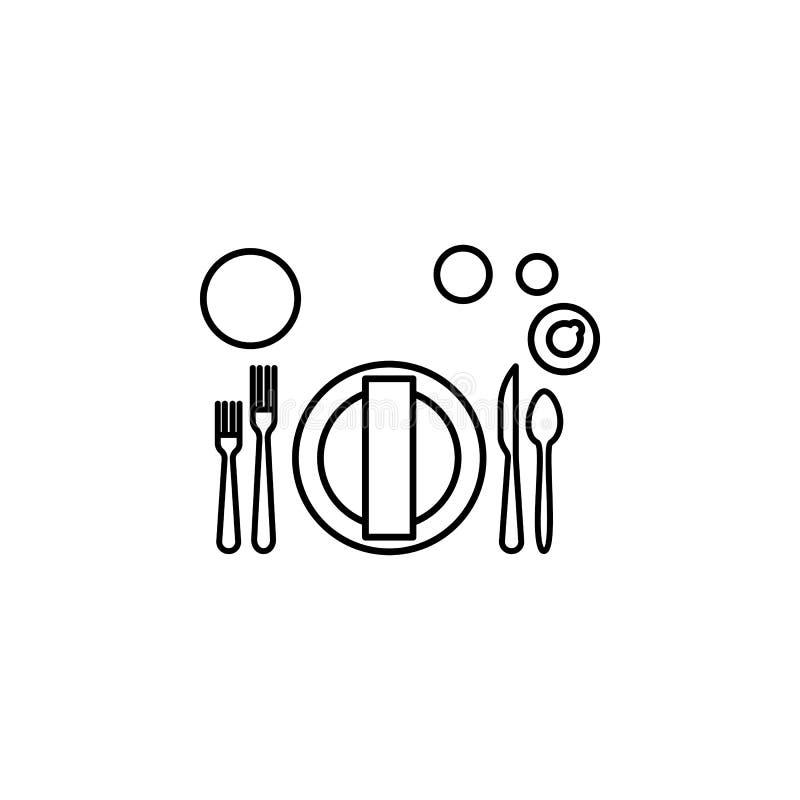 Banquet ou brunch, icône d'étiquette de table Peut être employé pour le Web, logo, l'appli mobile, UI, UX illustration de vecteur