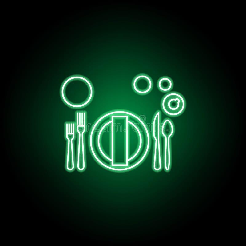 Banquet ou brunch, ic?ne d'?tiquette de table Peut ?tre employ? pour le Web, logo, l'appli mobile, UI, UX illustration de vecteur