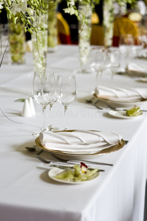 Free Banquet Table Stock Image - 8725301