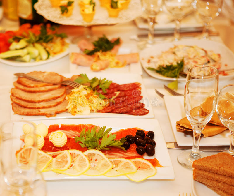 Download Banquet table with food stock photo. Image of fresh, banquet - 24029590