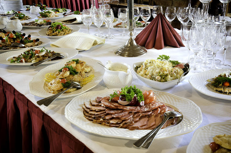 Download Banquet Table Food stock image. Image of cold, full, cuts - 26174625