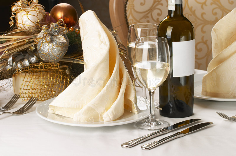 Download Banquet table setting stock image. Image of dine, drink - 5721867