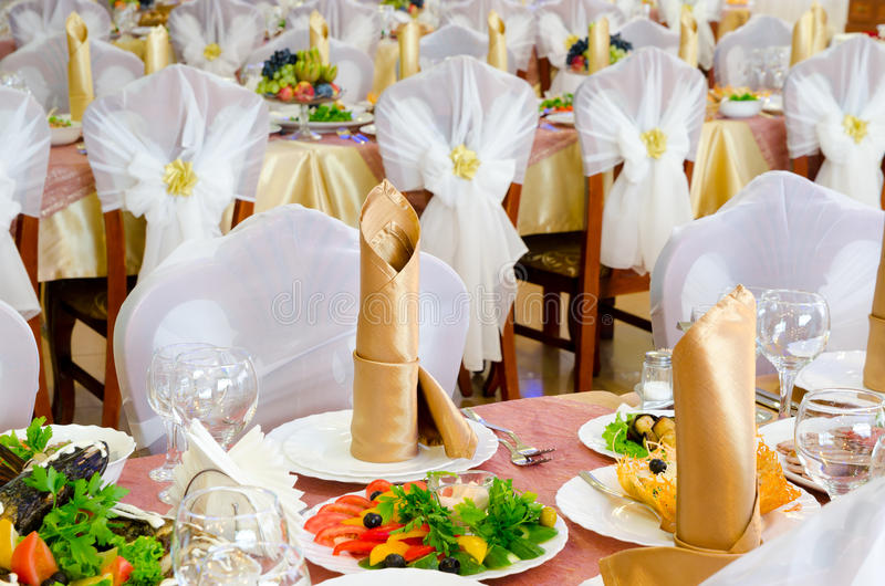 Banquet Wedding images stock