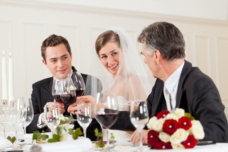 Banquete de casamento no jantar fotos de stock