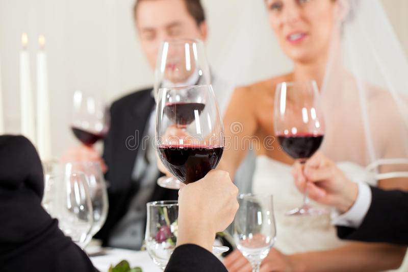 Banquete de casamento no jantar imagem de stock royalty free