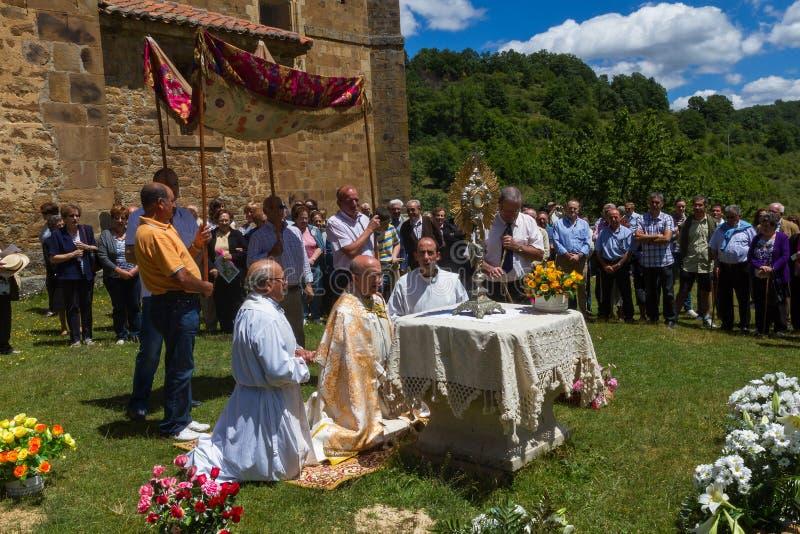 Banquete del Corpus Christi fotografía de archivo