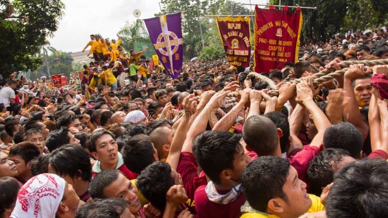 Banquete del Nazarene negro en Manila, Filipinas imagen de archivo libre de regalías