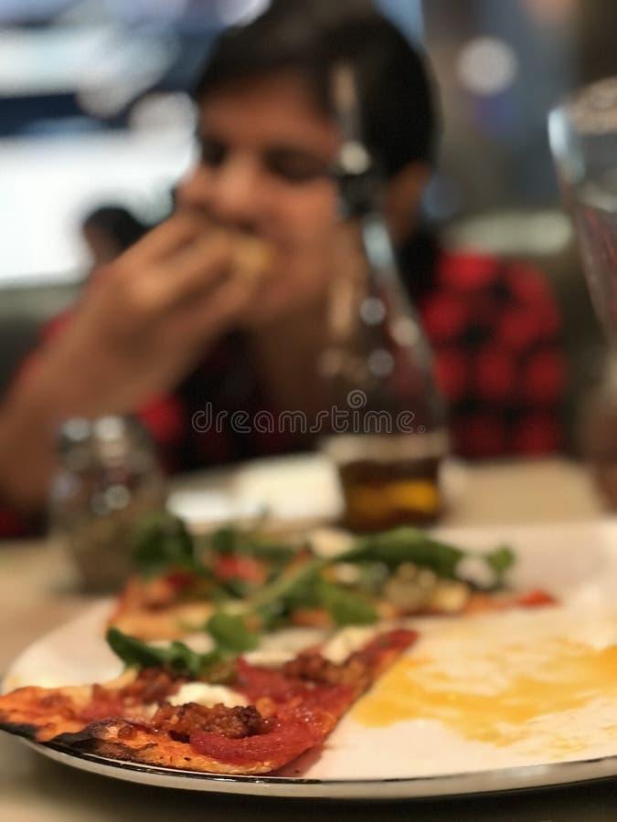Banquete en la pizza fotos de archivo libres de regalías