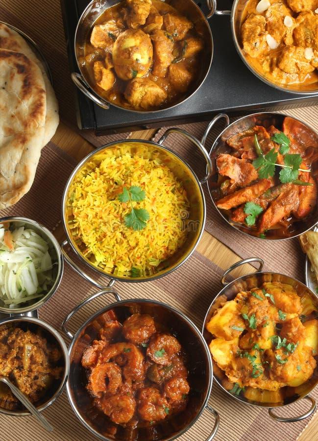Banquete indiano da refeição do caril do alimento fotografia de stock