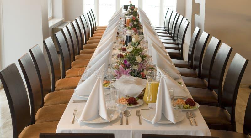Banquete largo T \ vector foto de archivo