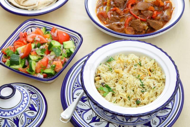 Banquete marroquí imagen de archivo