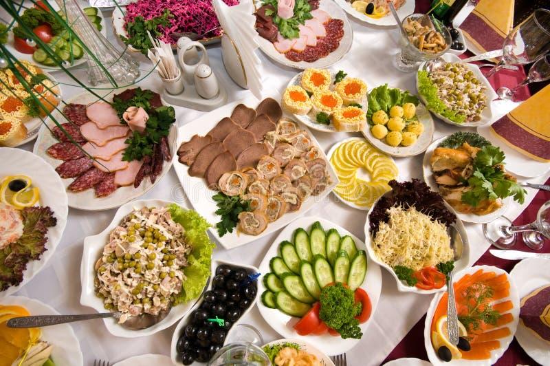 Banquete no café. foto de stock