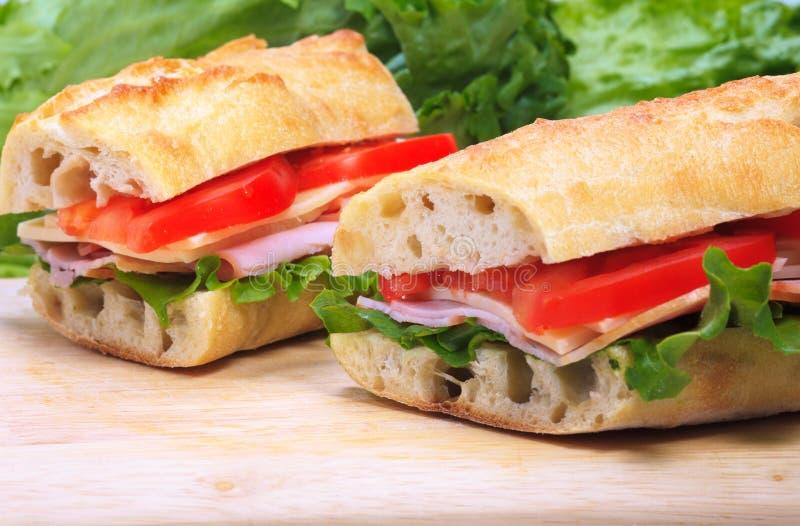 Banquettesandwiche lizenzfreie stockfotografie