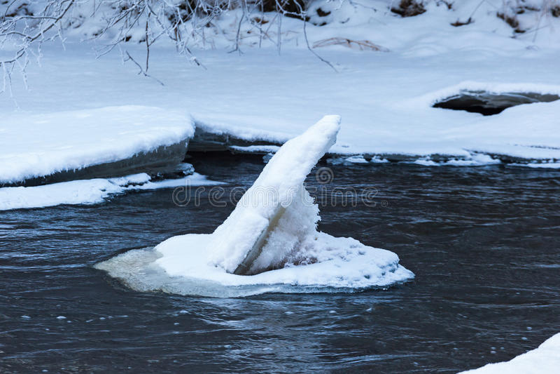 Banquisas de gelo fotografia de stock