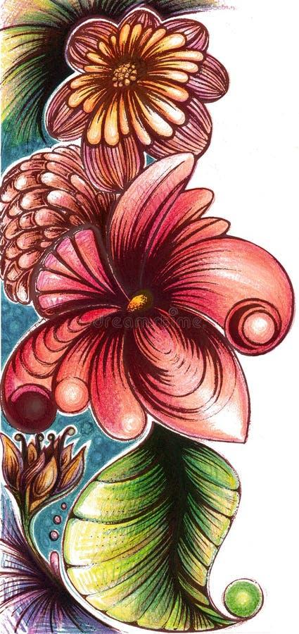 banret är kan olika blom- använda illustrationavsikter royaltyfri bild