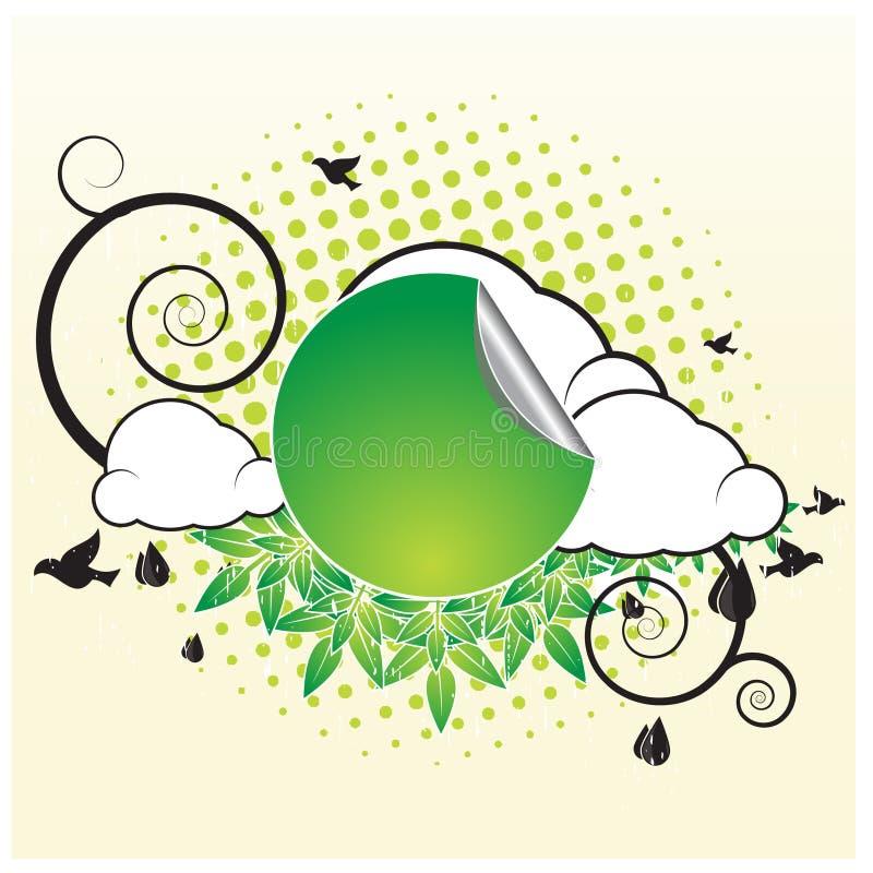 banret clouds retro vektor illustrationer
