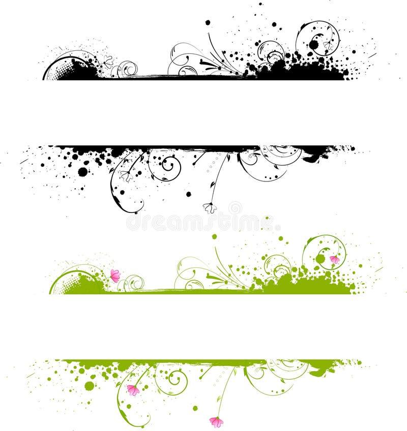 banret colors ramgrunge två vektor illustrationer