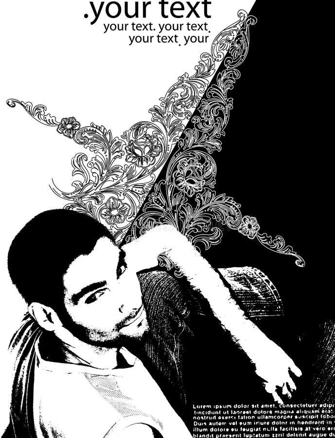 banret curves den moderna mannen royaltyfri foto