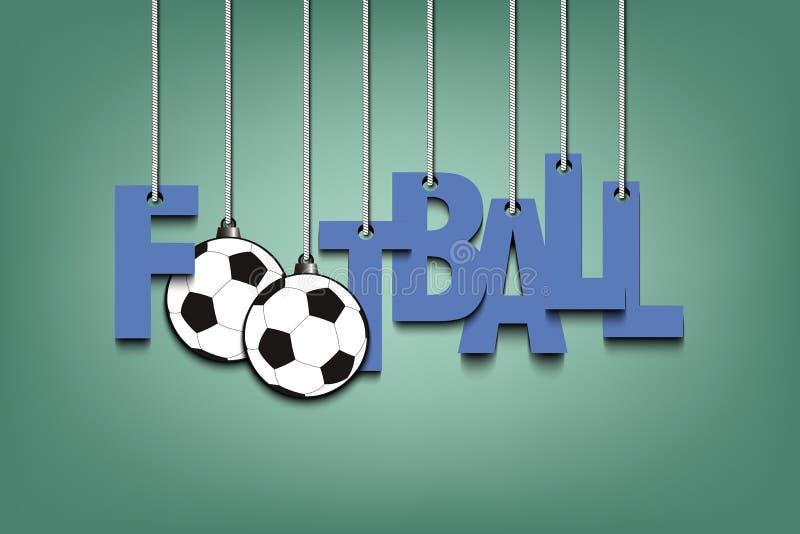 Banret den inskriftfotbollen och bollen hänger på repen vektor illustrationer