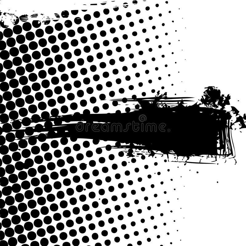 banret dots grunge royaltyfri illustrationer