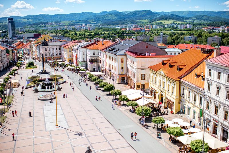 Banska Bystrica老市中心 免版税库存照片