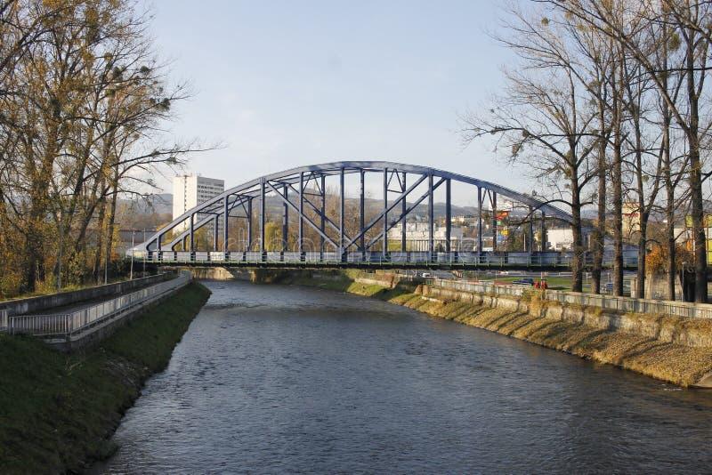 Banska Bystrica, Словакия - мост стоковые изображения rf