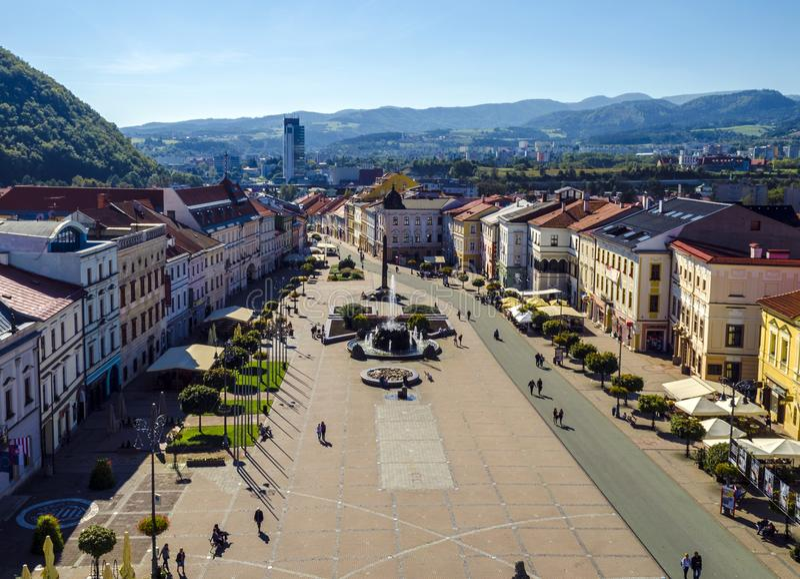 Banska Bystrica -中心 免版税库存图片