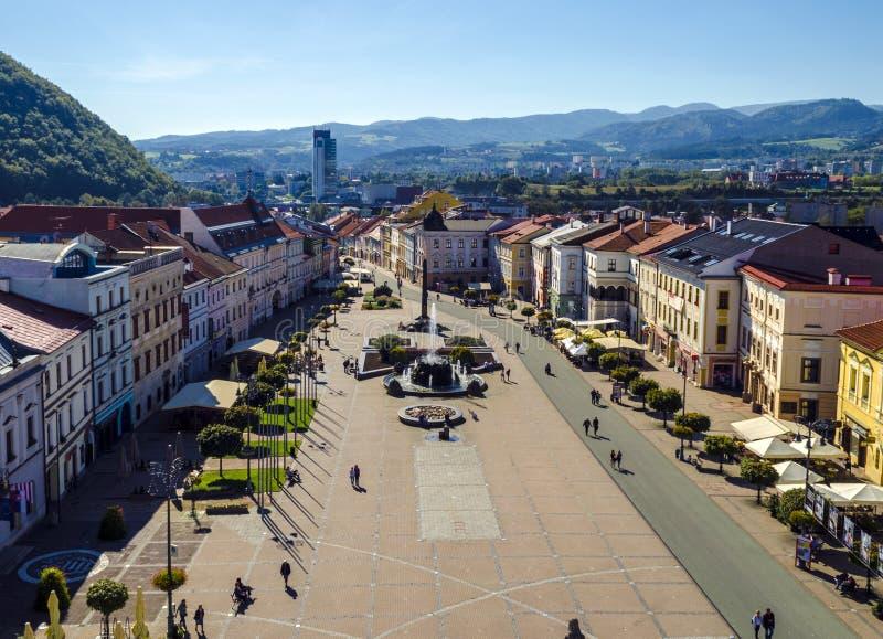Banska Bystrica - Centrum royaltyfria bilder