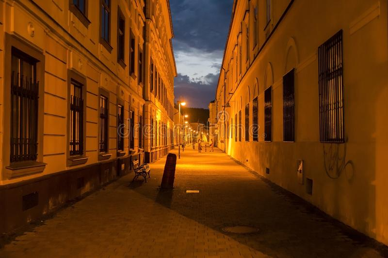 Banska Bystrica at the night royalty free stock images