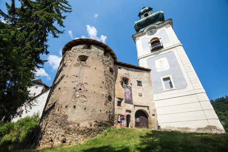 Banska Stiavnica, Σλοβακία - το παλαιό Castle στοκ εικόνες