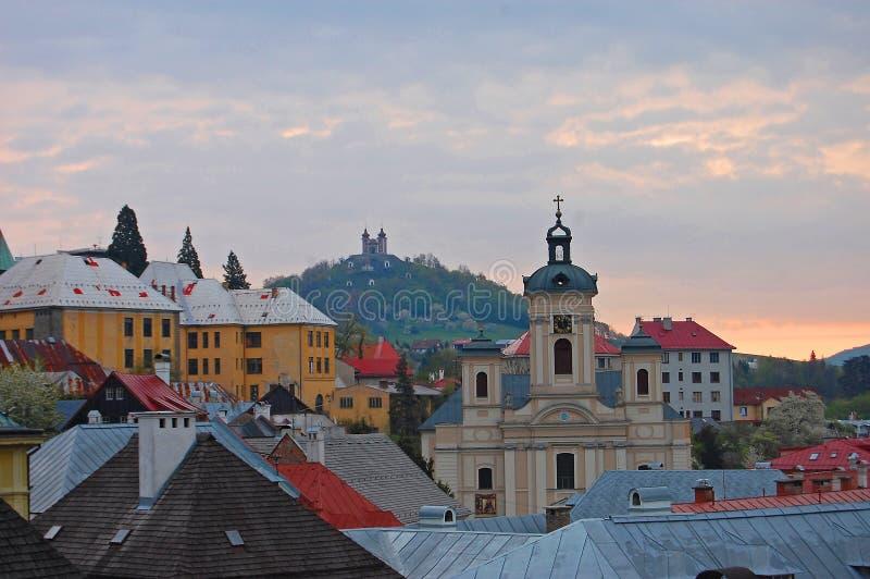 Banska Stiavnica, Calvary fotografía de archivo libre de regalías