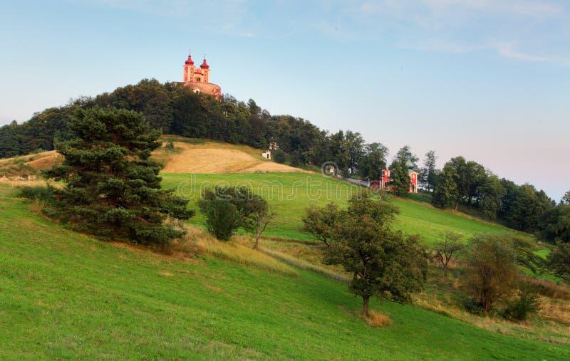 Banska Stiavnica - Calvary, Slovakien fotografering för bildbyråer