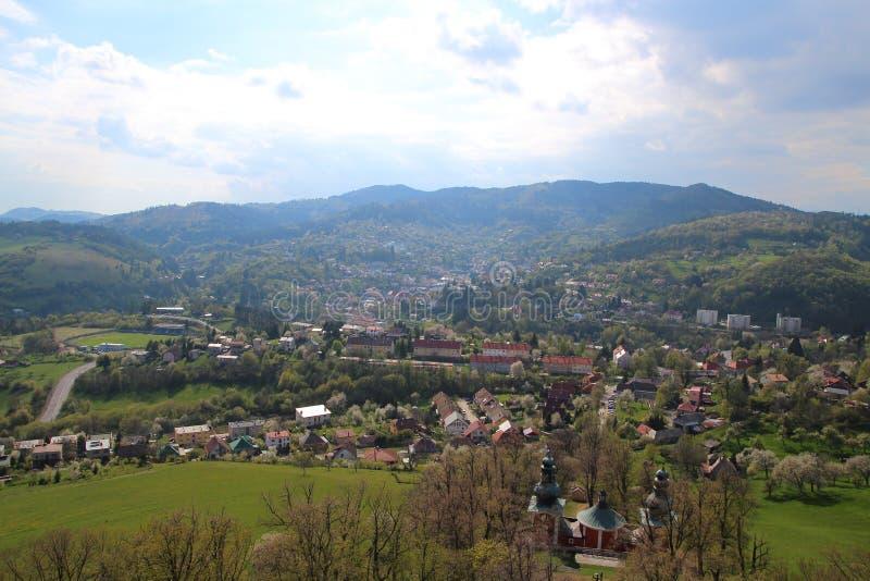 Banska Stiavnica em Eslováquia fotos de stock royalty free