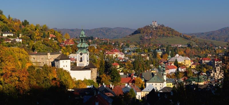 Banska Stiavnica en otoño fotografía de archivo