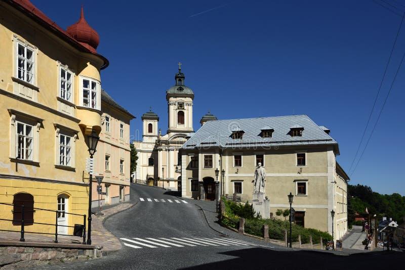 Banska Stiavnica, Eslováquia, UNESCO fotografia de stock