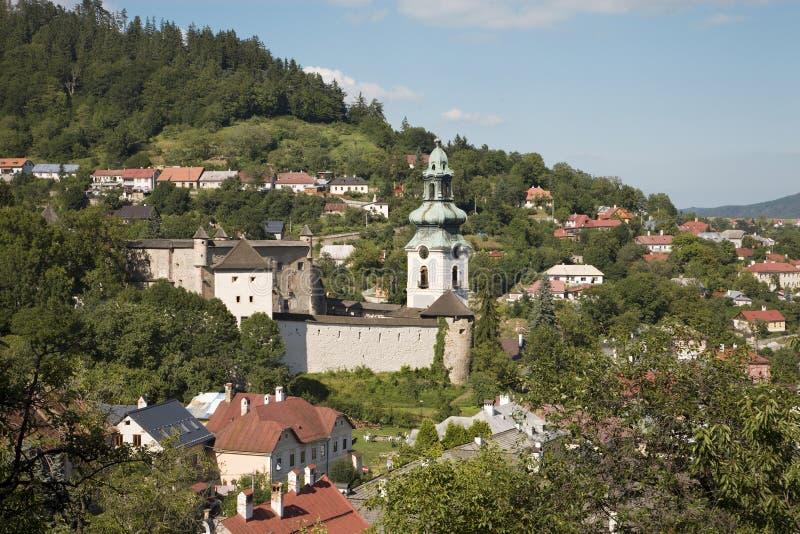 Banska Stiavnica - old castle stock image