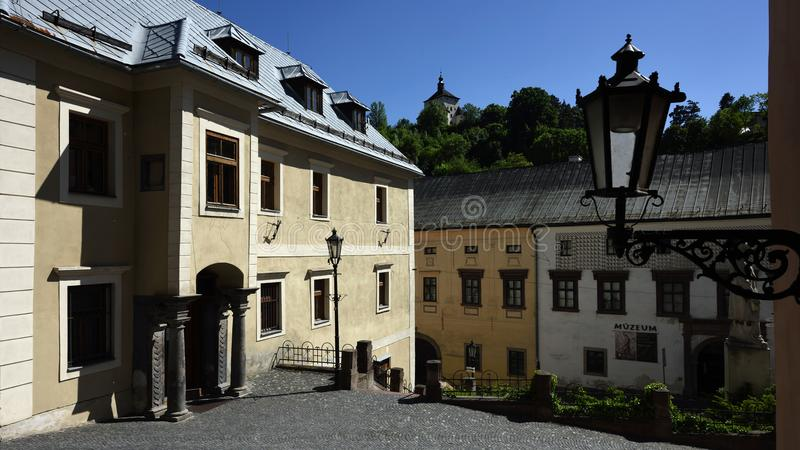 Banska Stiavnica, Oude Stad, Slowakije, Unesco royalty-vrije stock fotografie