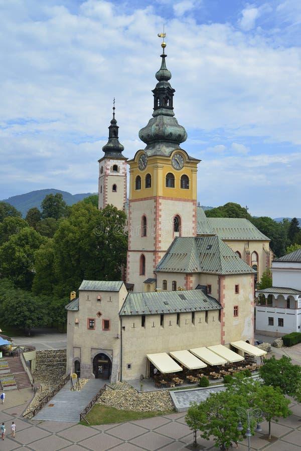 banskabystrica slovakia arkivbild