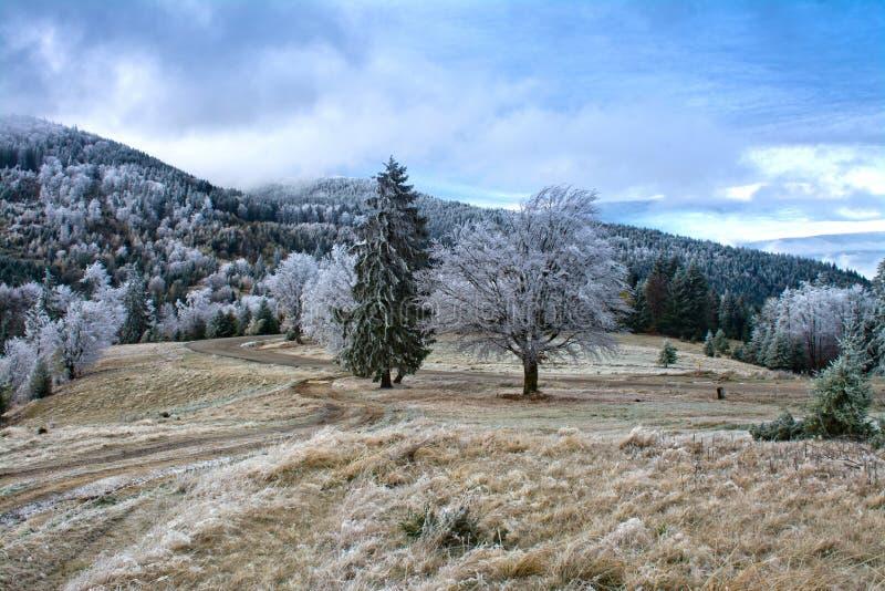 bansko Bulgaria krajobrazowa gór zima zdjęcia stock