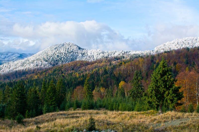 bansko Bulgaria krajobrazowa gór zima obraz royalty free