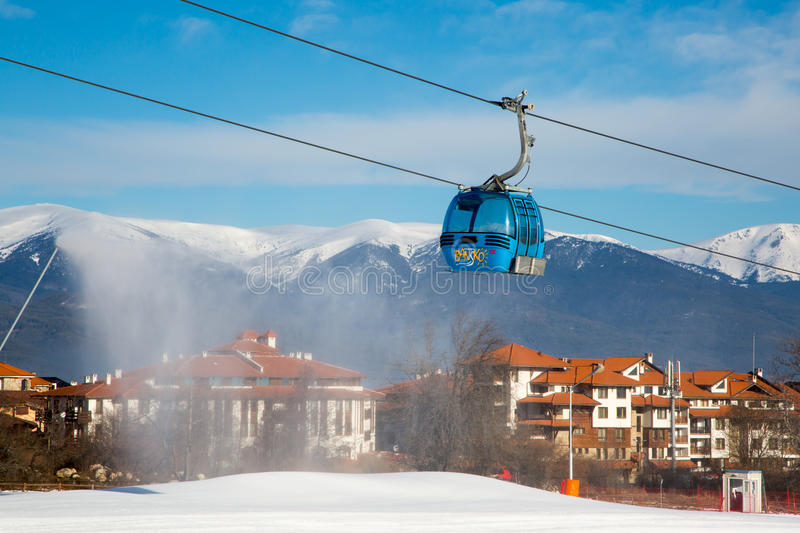Bansko cable car cabin, Bulgaria royalty free stock photography