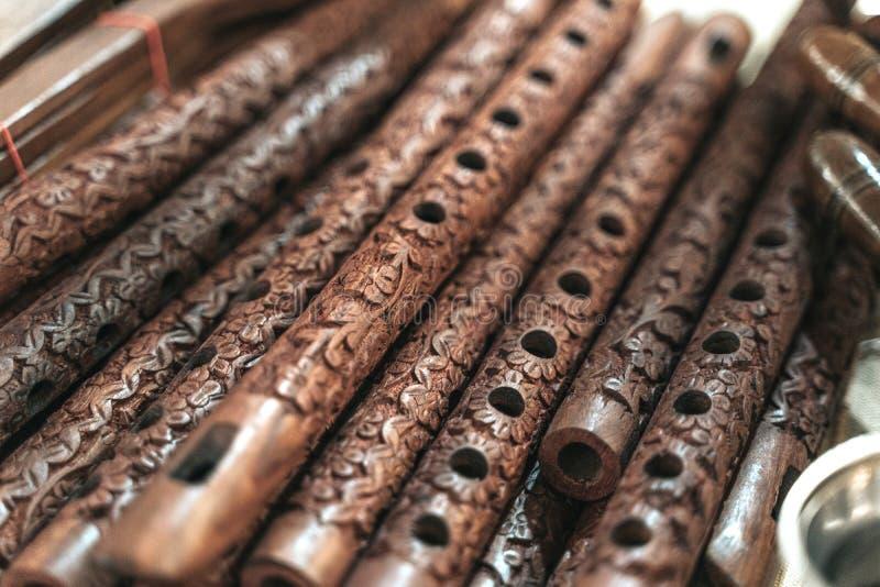 Bansuri, traditionelles Flöteninstrument aus Indien stockbilder