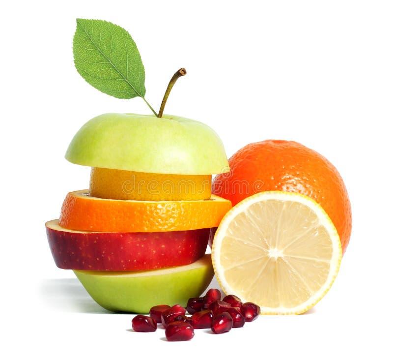 banta blandad ny frukt royaltyfri fotografi