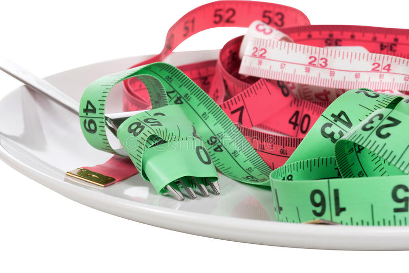 Banta eller viktförlustbegrepp royaltyfri fotografi